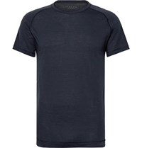 Falke Ergonomic Sport System Wool And Silk Blend Jersey T Shirt Blue
