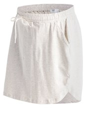 Mamalicious Mlnew Peri Mini Skirt Light Grey Melange Mottled Light Grey