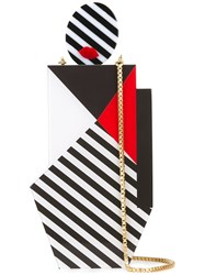 Lulu Guinness 'Pop Out Girl' Clutch Black