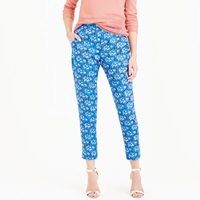 J.Crew Tall Cropped Pant In Vintage Scarf Print
