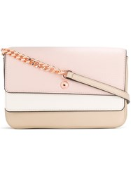 Michael Kors Collection Triple Flap Crossbody Bag Pink And Purple