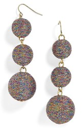 Baublebar Women's Shimmer Crispin Drop Earrings Purple Multi