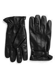 Paul Costelloe Longford Leather Gloves With Tab Black