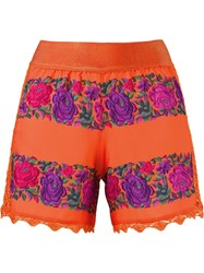 Cecilia Prado Printed Shorts Yellow Orange