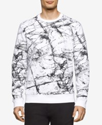 Calvin Klein Jeans Men's Marble Graphic Print Shirt White Wash
