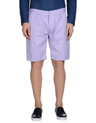 Sun 68 Trousers Bermuda Shorts Men Lilac