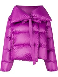 Bacon Padded Cropped Jacket Pink And Purple