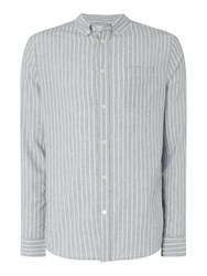 Linea Men's Lincoln Stripe Shirt Blue