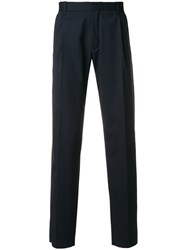 Chalayan Straight Leg Trousers Blue