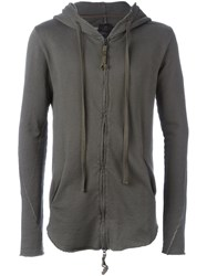 Thom Krom Hooded Zip Top Green