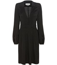 Etoile Isabel Marant Neil Crepe Dress Black