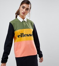 Ellesse Rugby T Shirt Dress In Colour Block Multi