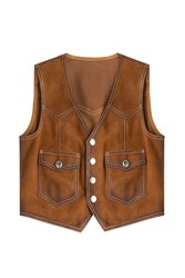 Dsquared2 Suede Vest Brown