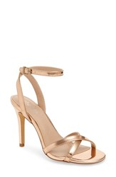 Charles By Charles David 'S Rome Sandal Rose Gold Fabric