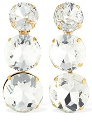 Ca And Lou Isabella Clip On Earrings W Crystals Gold