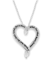 Unwritten Mother And Child Open Heart Pendant Necklace In Sterling Silver