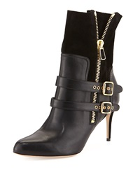 Paul Andrew Clio Double Buckled Ankle Boot Black