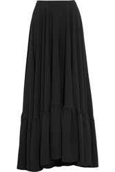 Co Tiered Crepe Maxi Skirt Black