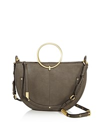 Foley Corinna And Ma Cherie Tyler Crescent Satchel Gray Gold