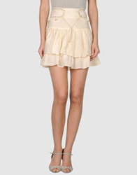 April May Mini Skirts Beige