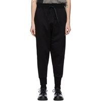 The Viridi Anne Black French Terry Lounge Pants