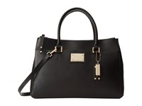 Calvin Klein Mercury Leather Satchel Black Gold Satchel Handbags