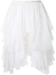 Chloe Tiered Ruffle Skirt White