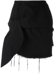 Marques Almeida Marques'almeida Knot Detail Mini Skirt Black