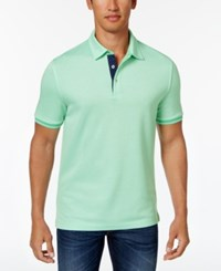 Club Room Men's Stellar Contrast Trim Polo Only At Macy's Neptune