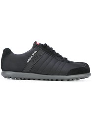 Camper Lace Up Sneakers Men Calf Leather Leather Nylon Rubber 43 Black