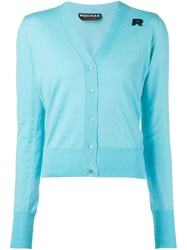 Rochas V Neck Cardigan Blue