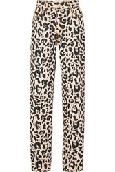 Eytys Benz Leopard Print High Rise Jeans Cream