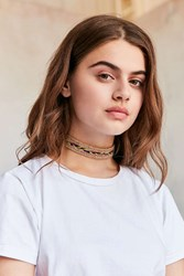 Urban Outfitters Pacey Rainbow Hemp Choker Necklace Novelty