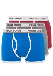 Your Turn Solid 3 Pack Shorts Royal Red Grey Royal Blue