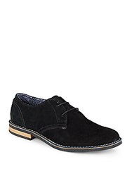 Original Penguin Waylon Suede Lace Up Oxfords Black