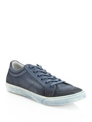 Saks Fifth Avenue Canvas Spray Paint Sneakers Red Blue