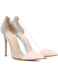 Gianvito Rossi Plexi Patent Leather And Transparent Pumps Grey