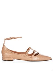 Givenchy Piper Stud Embellished Leather Flats Nude