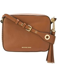 Michael Michael Kors 'Brooklyn' Crossbody Bag Brown