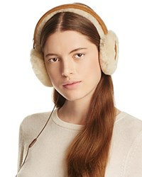 Ugg Classic Shearling Sheepskin Earmuffs With Wired Headphones Chestnut