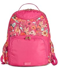 Sakroots Madison Nylon Backpack Raspberry In Bloom Gold