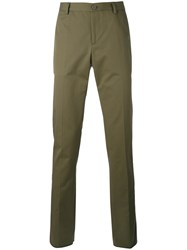 Etro Classic Chinos Men Cotton 48 Green