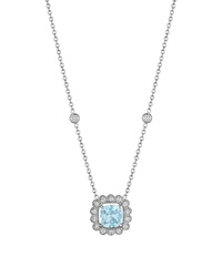 Penny Preville Pendant Necklace W Aquamarine And Diamonds