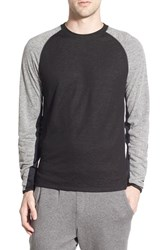 Men's The Rail 'Andromeda' Colorblock Raglan Crewneck Sweatshirt Black Caviar Color Block