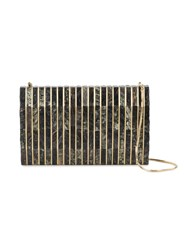 Nathalie Trad 'Gustave' Clutch Bag Women Mother Of Pearl Metal One Size Black