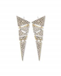 Alexis Bittar Hinged Crystal Mosaic Lace Drop Earrings