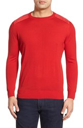 Men's Bugatchi Regular Fit Crewneck Sweater Cherry