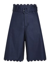 See By Chloe Scalloped Cotton Shorts