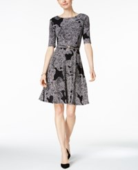 Charter Club Paisley Print Fit And Flare Dress Only At Macy's Deep Black Combo