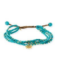 Tai Beaded Star Charm Bracelet Turquoise